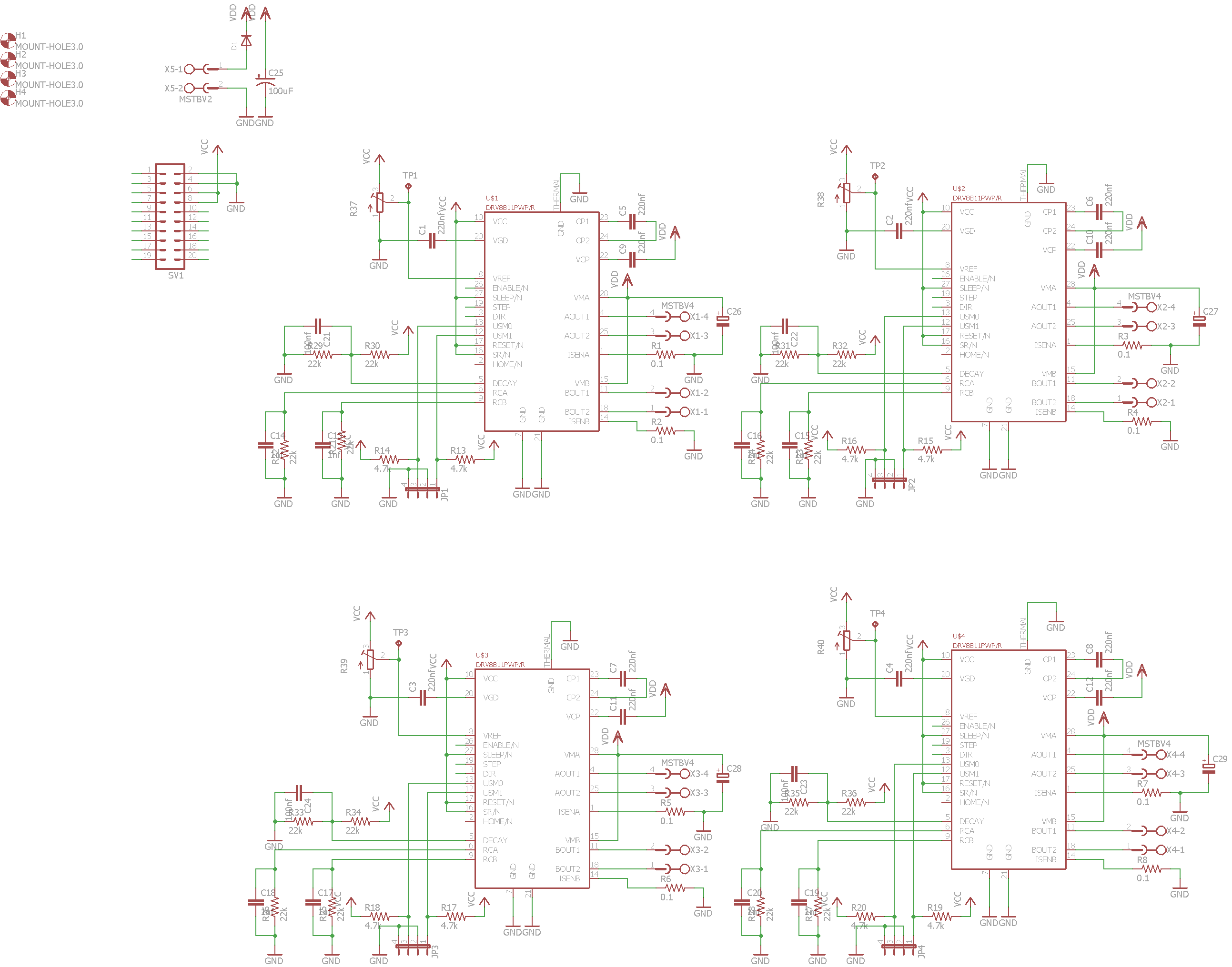 DRV8818 Schematic 4 axis